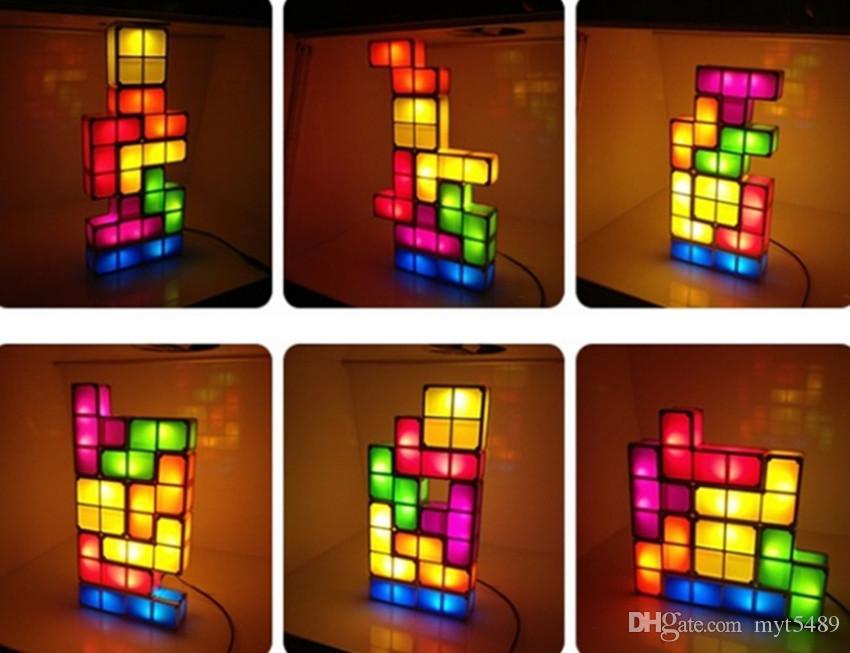 2017 Tetris Light Desk Lamp Led Constructible Block Table