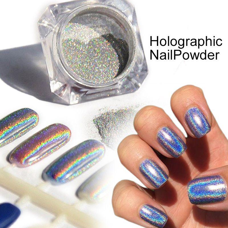 Estremamente Wholesale 1 Box Holographic Laser Powder Nail Art Glitter Rainbow  EK26