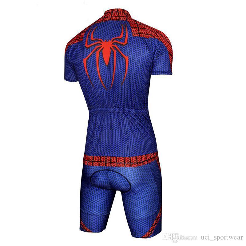 Crossrider Spiderman pro camisa de ciclismo bicicleta curto SET MTB Ropa ciclismo PRO ciclismo WEAR mens BICICLETA Maillot Culott