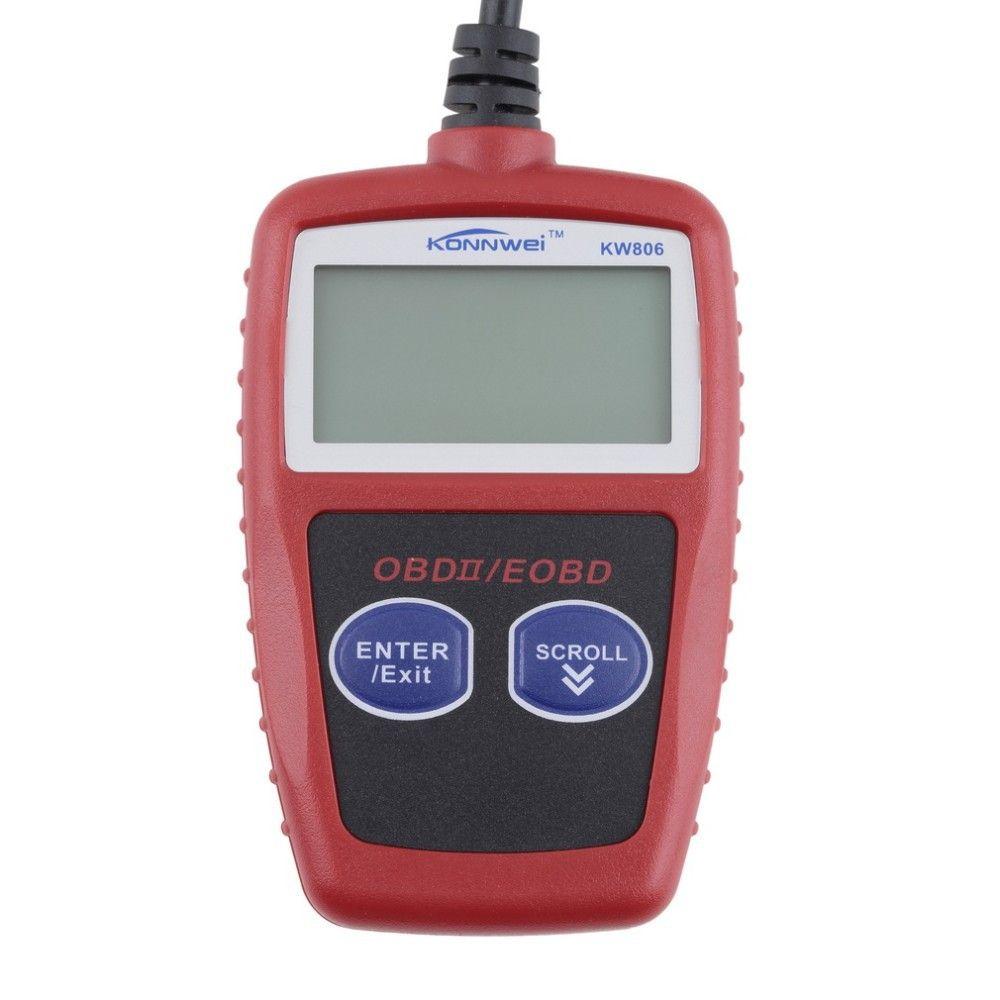 KW806 Araba Kod Okuyucu CAN BUS OBD 2 OBDII Teşhis Tarayıcı Aracı Otomatik tarama aracı