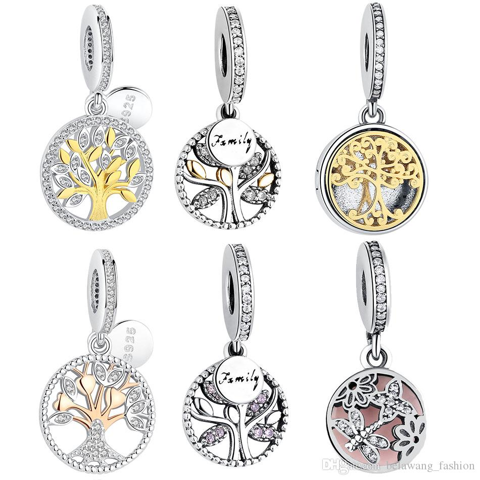 Belawang family tree of life pendant original 925 sterling silver belawang family tree of life pendant original 925 sterling silver heart beads fits pandora charms braceletsnecklaces diy jewelry making pandora charms mozeypictures Gallery