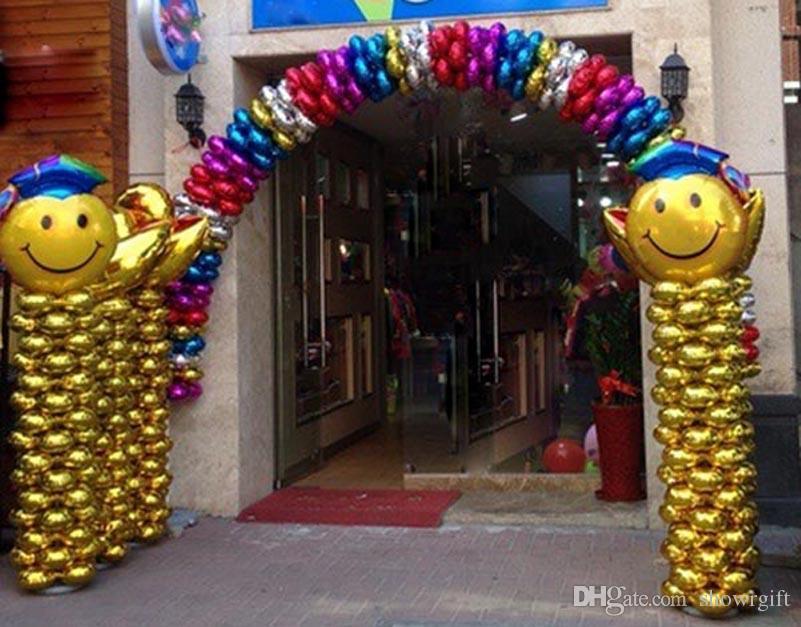 Blatt Blütenblatt Ballons Event Party decortions Spalte Bogen Ballon Blume Klee Form 18inch Aluminiumfolie balon freies Verschiffen