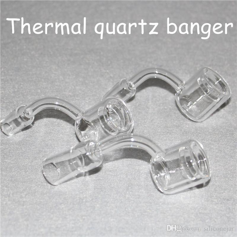 XXL Quartz Thermal Banger 10mm 14mm 18mm Double Tube Quartz Thermal Banger Nail For Glass Water Pipes Oil Rigs Glass Bongs