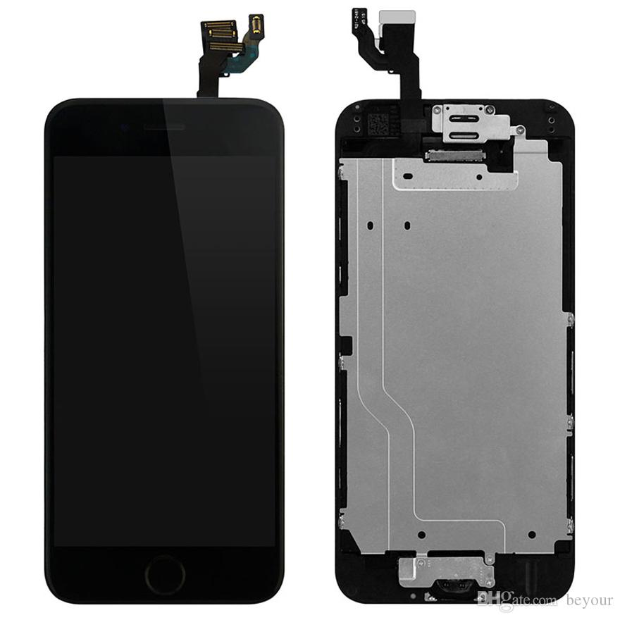 new concept ea9a5 59e53 LCD Display Touch Screen Digitizer with Fecing Camera Home Button Assembly  Repair Replacement for iPhone 6 4.7inch White Black