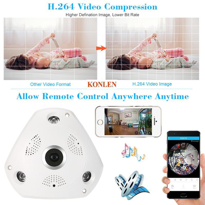 2017 горячий монитор камеры HD 960P 360 градусов беспроводные IP-камеры ночного видения WiFi камеры IP-сети CCTV камеры домашней безопасности