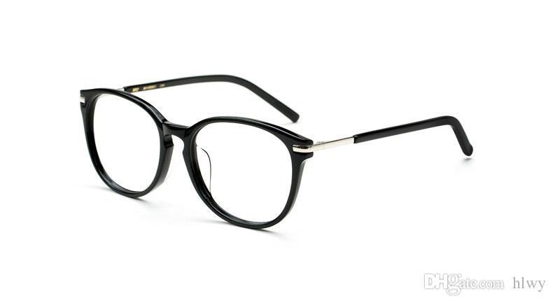 Star modèles rétro lunettes de myopie monture modèles féminins grande plaque de monture verres unis hommes et femmes black box full frame W5175