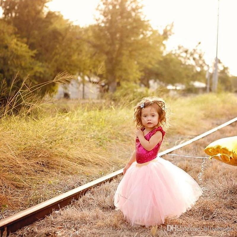 Dusty Pink Wedding Flower Girls' Skirt Ribbon Tiered Tutu Tulle Kids Formal Skirts Girl's Custom Made High Quality Skirt