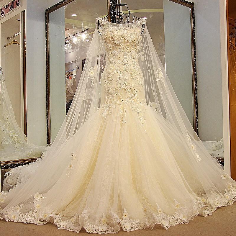 arabic bridal dresses with wrap 2017 modern sexy mermaid crystal