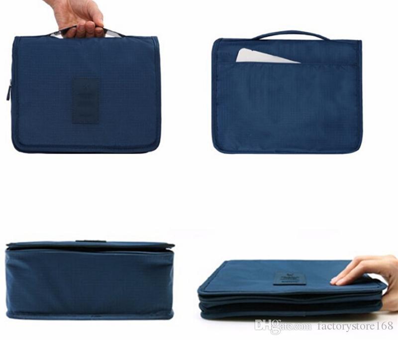 Women Cosmetic bag Organizer Waterproof Large Capacity Hook Travel bag Hanging Toiletry Wash Bag men Makeup Bags