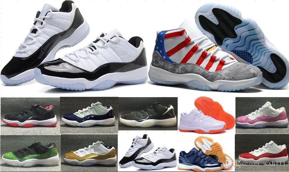 a710b66d2259 Top Quality 11s Man Women Basketball Shoes Men 11 Low Concords Bred ...