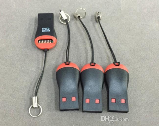 عالية السرعة مصغرة صافرة USB 2.0 T- فلاش مايكرو SD قارئ بطاقة ذاكرة قارئ بطاقة TF محول