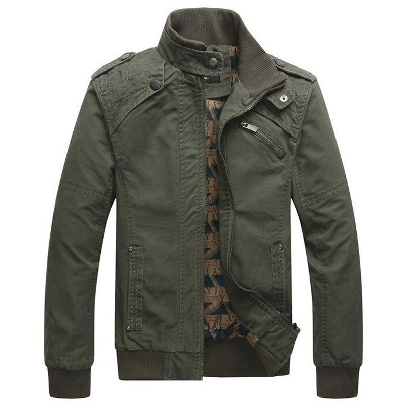 45b8ef14ea2d8 Winter Jacket Men Casual Cotton Stand Collar Coats Army Military Outwears  Men s Male Clothes Overcoat Jaqueta Masculina Jacket Men Male Clothes  Collar Coats ...