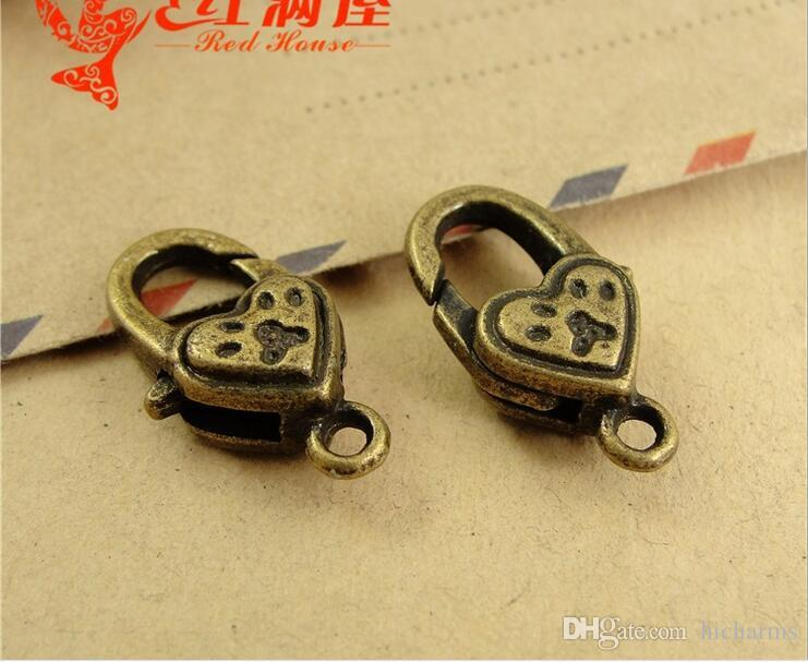 21*12MM Antique Bronze pawprint charms lobster clasp for bracelet, vintage silver jewelry clasp for necklace, metal key ring holder hook