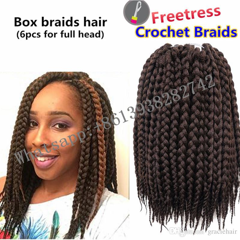 14inch Synthetic Hair Extensions Crochet Braids Box Braids Hair