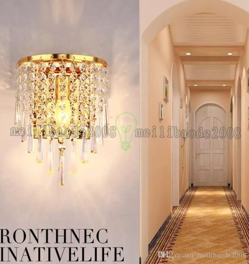 2017 NEW Home Crystal Wall Sconce Lamp Pendant Light Fixture Lighting Chandelier LED Bed MYY