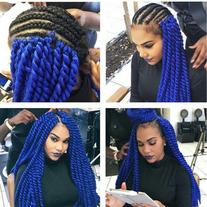 2X Havana Mambo Twist Crochet Braids Hair 12 inch 90g/pack Ombre Synthetic Kanekalon Senegalese Twist Braiding Hair Extensions