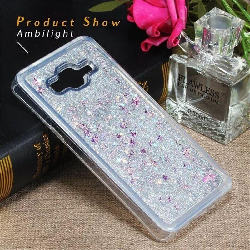 For Samsung Galaxy J2 J5 J7 Prime Case Glitter Liquid Star Quicksand Case For Samsung on5 on7 2016 J3 2017 J3 emerge J1 ACE Soft TPU Cover