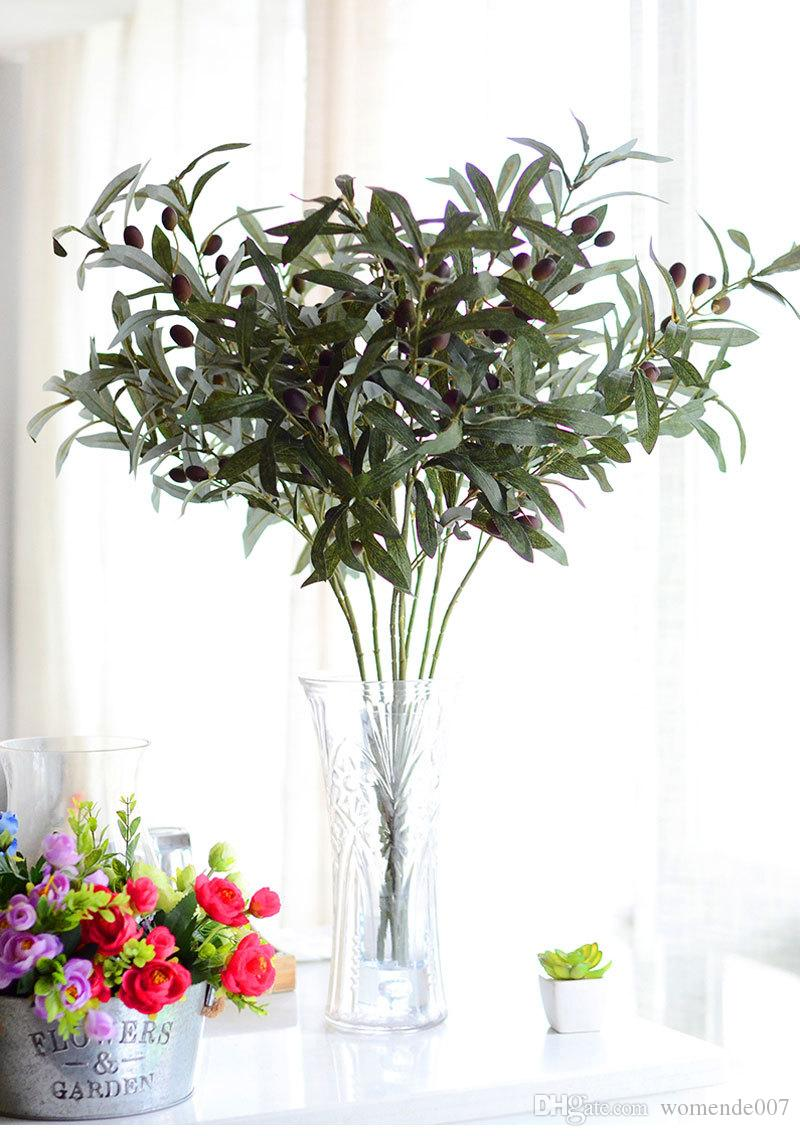 2018 Pean Style Euro Simulation Flower Wholesale Small Olive Leaves
