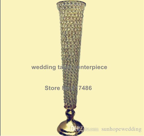Yeni varış düğün masa dekorasyon / parti masa cam kristal koridor düğün sahne dekorasyon için standı