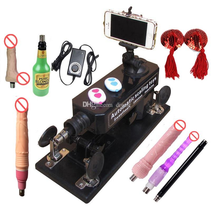 Sex Machine with Bluetooth Photograph and Video Swept,Male and Female Masturbation Telescopic Automatic Making LOVE Machine with Accessories