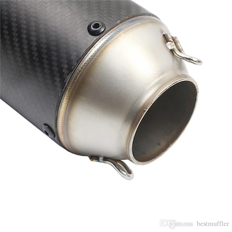 51 mm Inlet 160 mm Length AR Motorcycle Vent Pipe Titanium Imitate Motorbike Exhaust Pipe Exhaust System