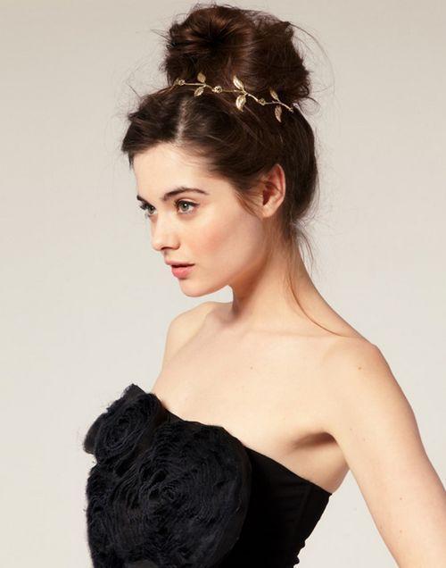 DHL moda hot style fascia capelli lady oro oliva foglia fascia testa pezzo catena foglie d'oro fascia elastica testa banda