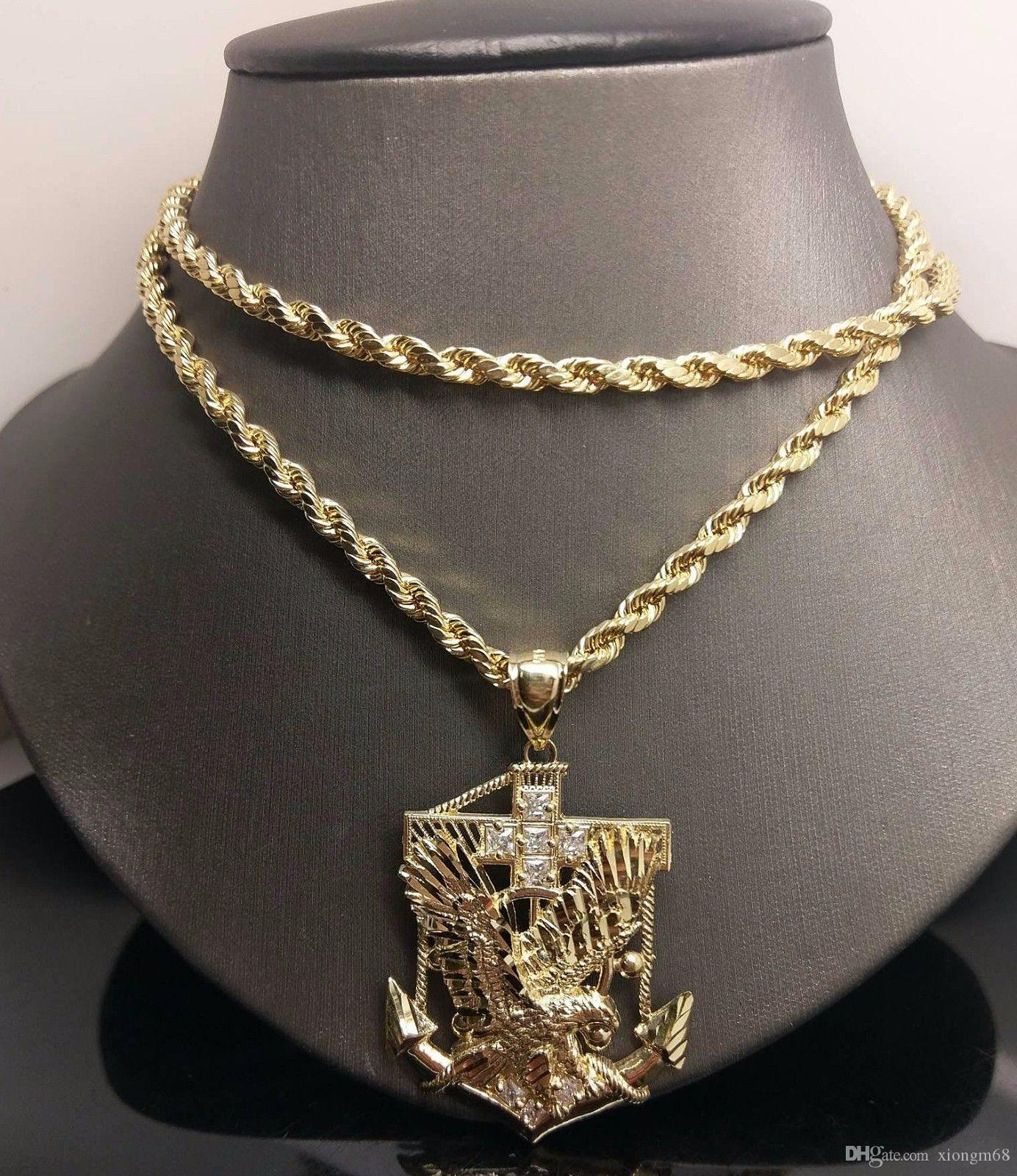 necklace man amazon eagle pendant gold dp com hawk plated necklaces american brave
