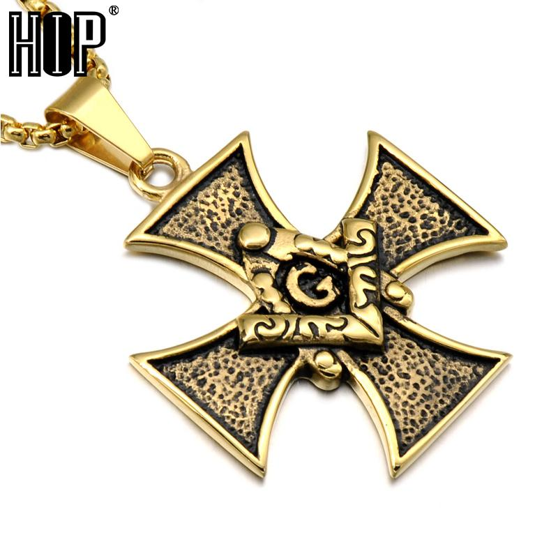 Wholesale Hip Hop Gold Color Stainless Steel Symbol Freemasonry