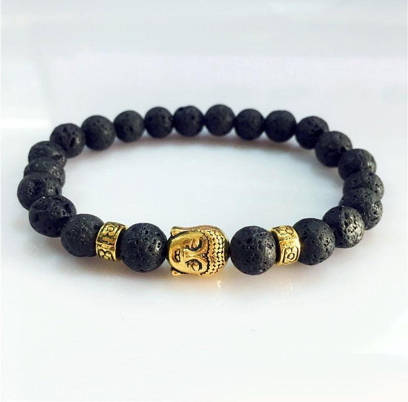 e2ca8fab8 New Arrival Bracelets Gold Budda Bracelet Bead Alloy Unisex 8mm Hard Stone  Nature Stone Jewelry Rubber Bracelets Beaded Bracelets From Jewelrysky1388,  ...
