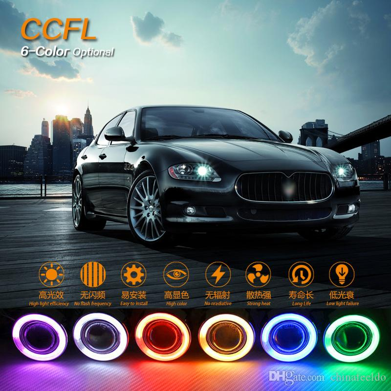 LEEWA Car Headlight CCFL Angel Eyes Halo Rings Kits For Lada Vaz 2112 Optional #1269