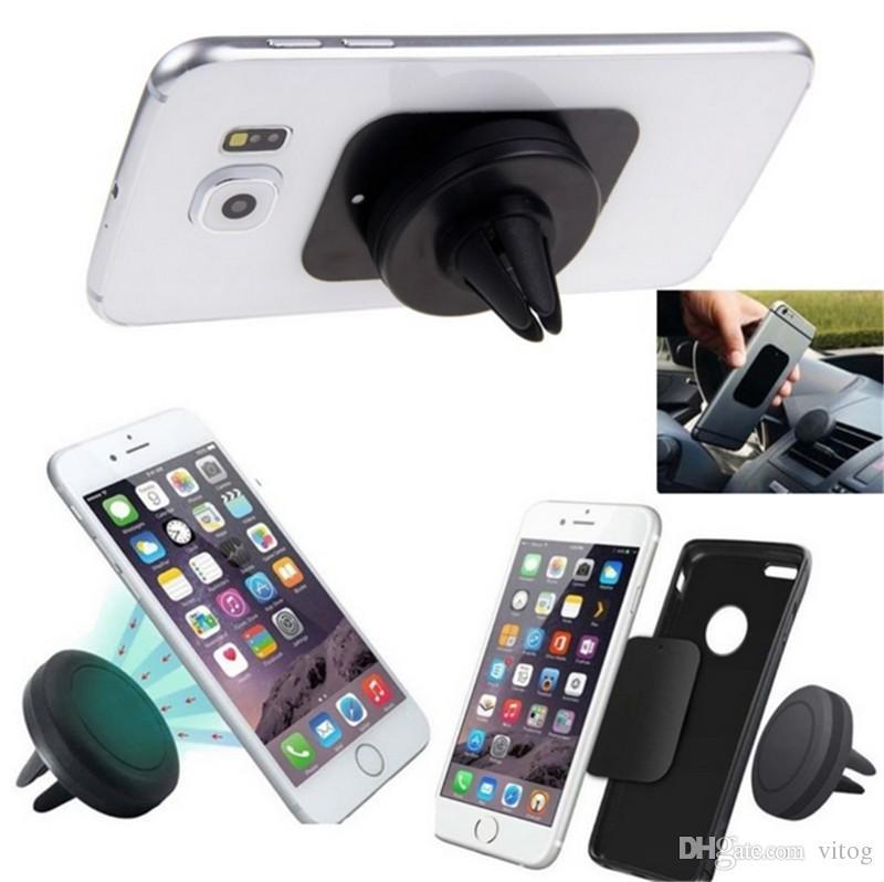 Car Mount Phone Holder Air Vent Magnetic Universal Car Mount cell phone holder One Step Mounting ,Reinforced Magnet Easier Safer Driving