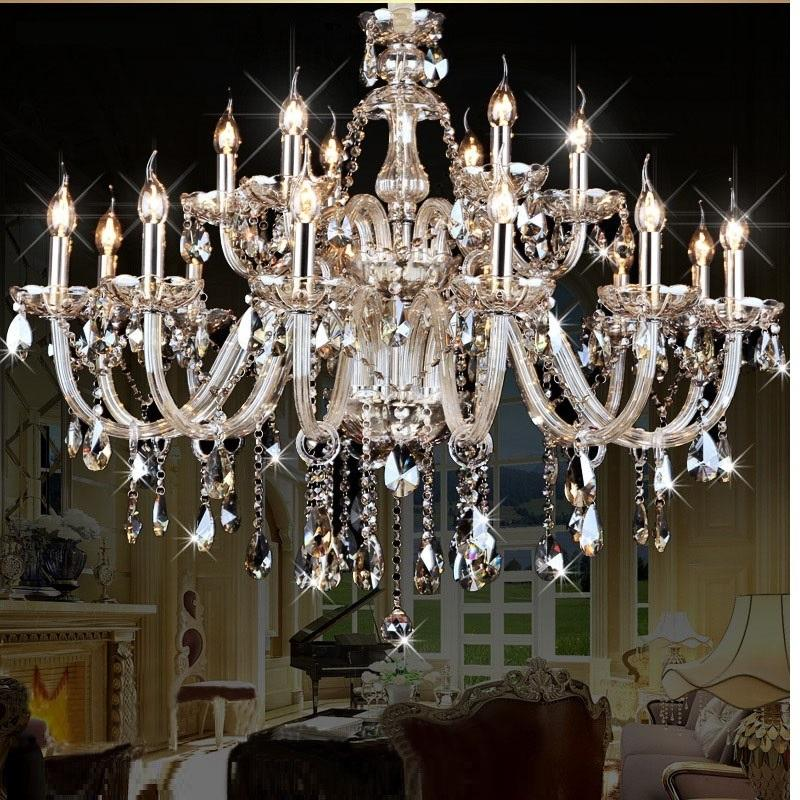 Luxury Crystal Chandelier Living Room Lustre Sala De Cristal Modern