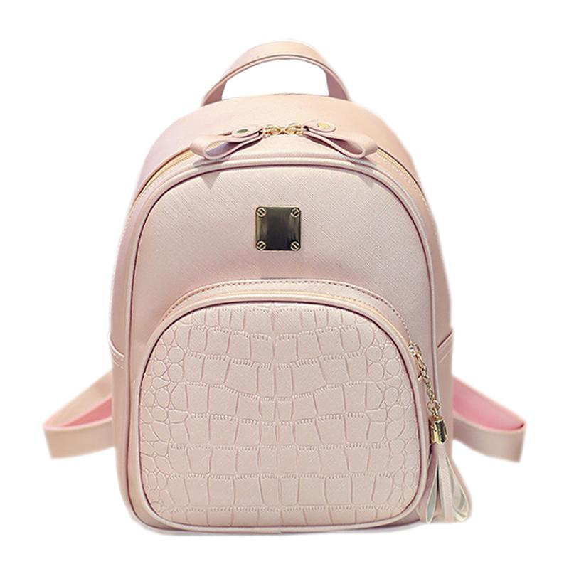 cc958314b1 Wholesale- Alligator Pattern Girl School Bags For Teenagers Women ...