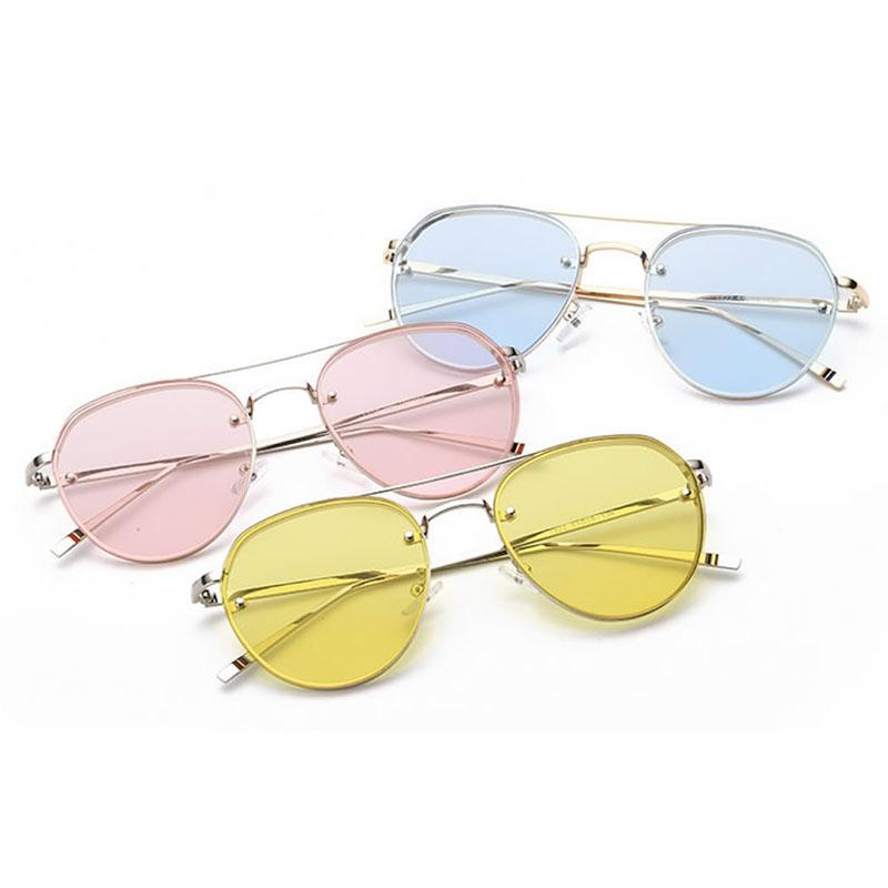 523b881d8b Wholesale-Fashion Women s Gold Retro Cat Eye Sunglasses Oversized ...