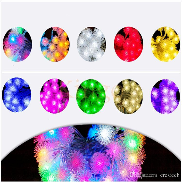 10M 60 / 100 led 스노우 볼 LED 크리스마스 축제 크리스마스 파티 장식 LED 스트립 요정 문자열