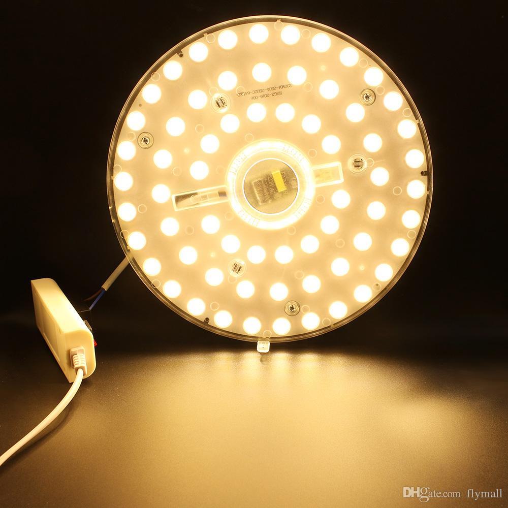12W 18W 24W 36W LED 모듈 천장 조명 SMD2835 110V 220V LED 패널 원 조명 램프 라운드 반지 자석 LED 패널 보드