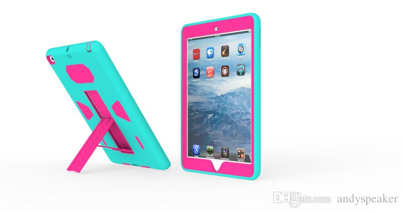 Hybrid Robot Tri-Protecter Case with Holder PC+TPU Material Colorful for iPad Mini/Air/Pro Stand Protective Cover /up