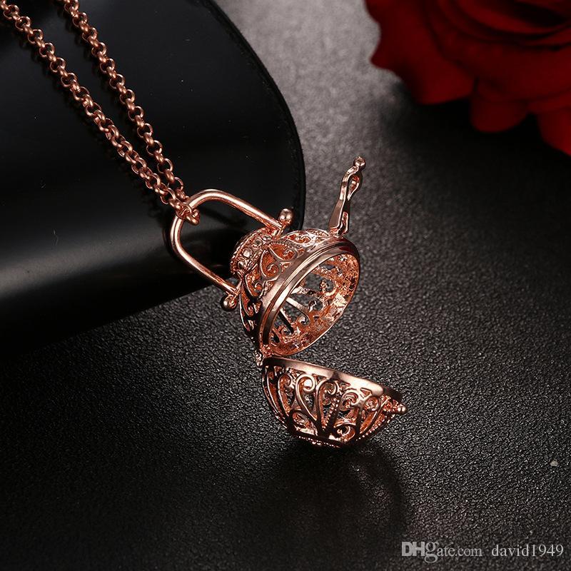 Диффузор Медальон Ожерелье Ароматерапия Диффузор Ожерелья Эфирные Масла Диффузор Ожерелье Мода Новый Медальон Подвески Ожерелье 5 Цветов