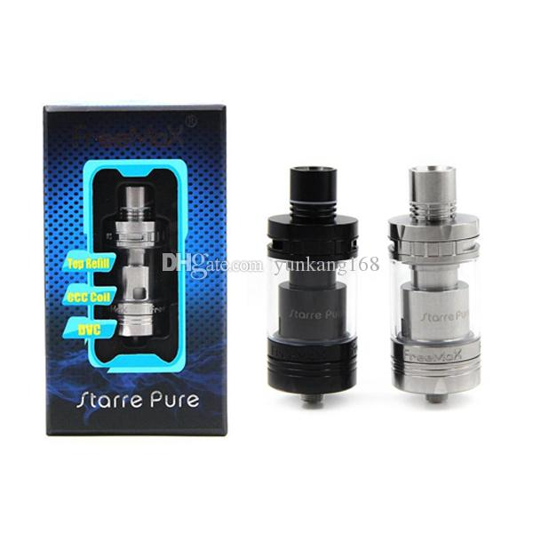 2019 Authentic Freemax Starre Pure Ceramic Tank 4ml Sub Ohm ceramic cover coil top filling airflow atomizer vapor mods rda atomizers e cigs