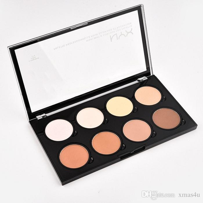 hot NYX Highlight Contour Pro Powder in polvere 8 Shadow Foundation Face Palette Full Size in Box Makeup