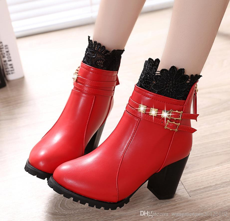 38418737dd525 2017 New Spring And Autumn Winter with a Single Shoes Deep Round ...