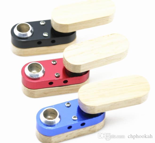Petit tube rotatif en bois multicolore Sélection de tuyau métallique pliant créatif portable