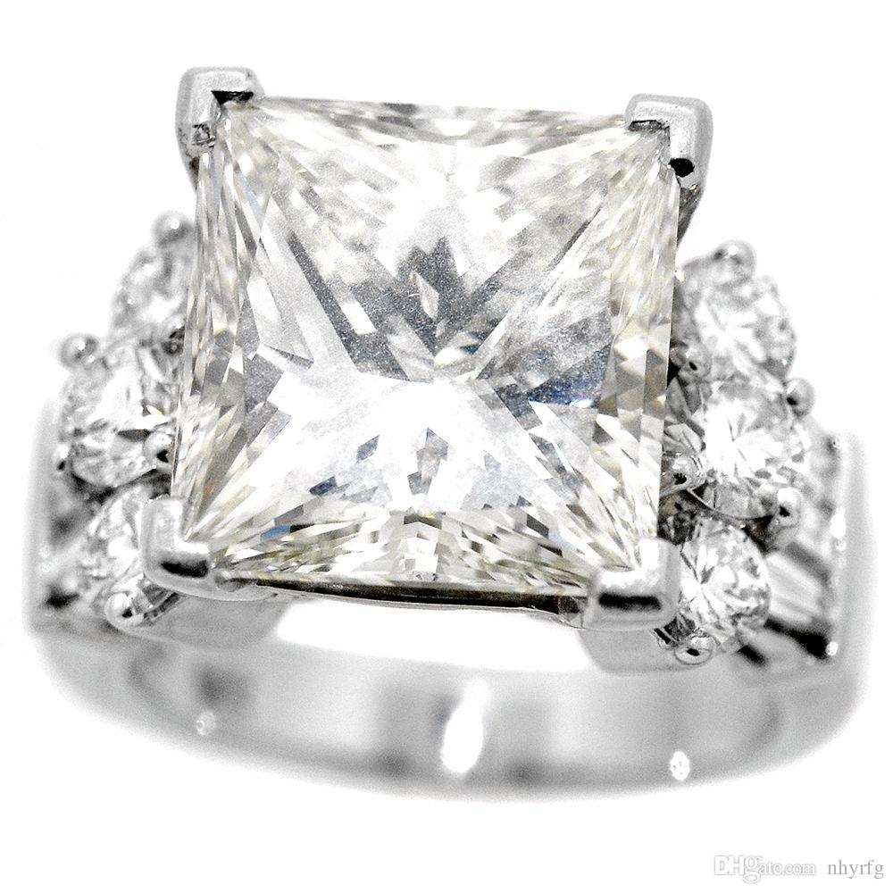 ring k diamond radiant engagement cut ctw