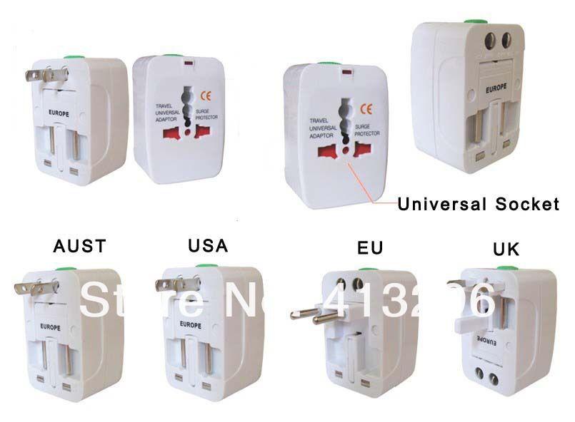 Adattatore universale del caricatore di corrente alternata di viaggio di All In One US Regno Unito UE AU trasporto libero portatile 0001