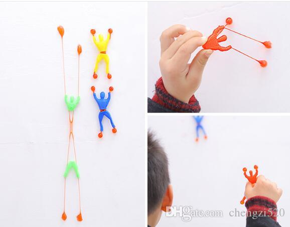 Wyprzedaż 100 sztuk / partia wspinaczki ściany pająk mężczyzn, superman, zabawki dla dzieci opp torba Darmowa wysyłka
