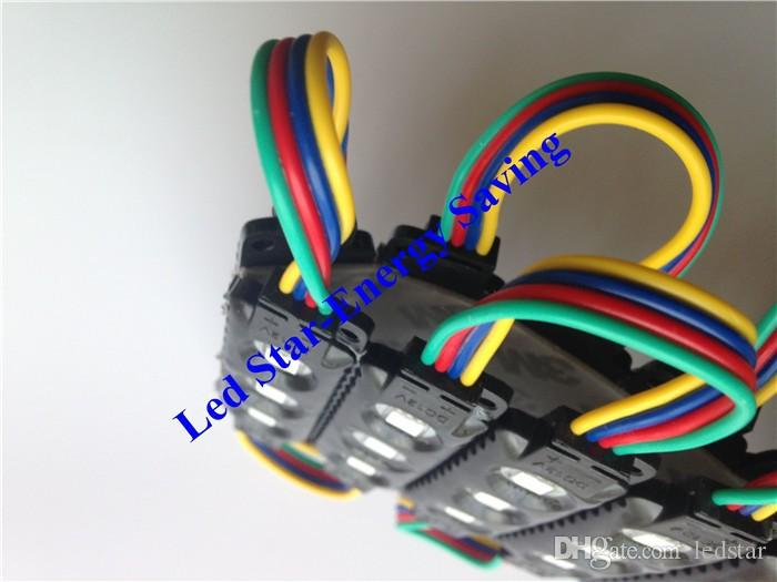 Black LED RGB Modules 10ft =  Injection ABS Plastic 5050 SMD Led Modules 3Leds/1.2W Led Backlights String