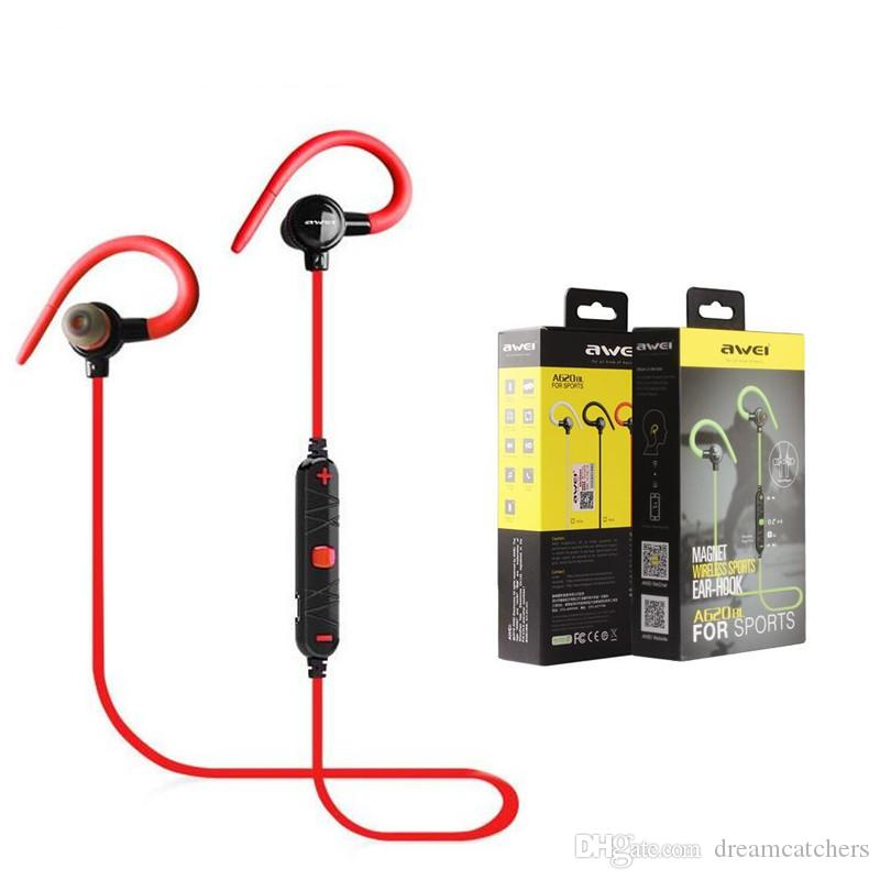 6bb759d854c Awei A620BL Stereo Sport In Ear Bluetooth Wireless Earphone Headset Sport  Running Earbuds Handsfree With Microphone For Smartphone Bluetooth Headset  Headset ...
