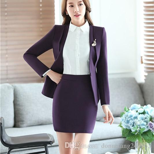 626db6eda0b10 2019 4XL Plus Size Work Wear Fashion Women S Clothes Slim Long Sleeve  Blazer With Skirt Office Ladies Formal OL Skirt Suit Jacket Set From  Donnatang240965