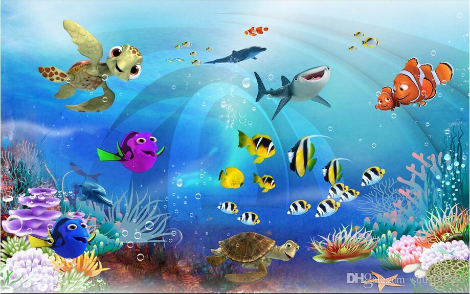 3d papier peint personnalisé photo murale mer monde enfants chambre paysage décoration peinture 3d peintures murales de papier peint pour les murs 3 d salon
