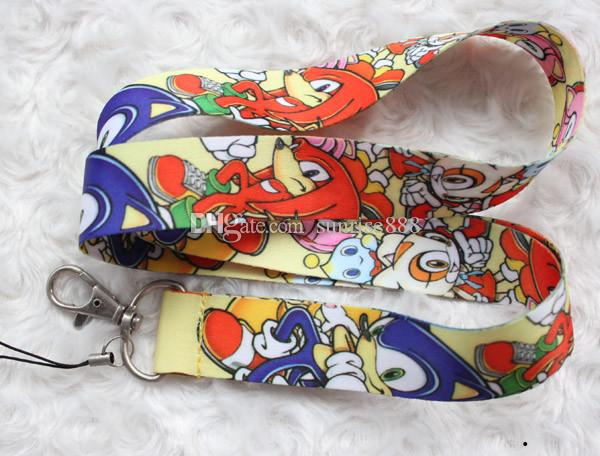Sıcak satış toptan 60 adet karikatür Animasyon görüntü telefonu kordon moda tuşları halat zarif boyun halat kart halat ücretsiz kargo 499